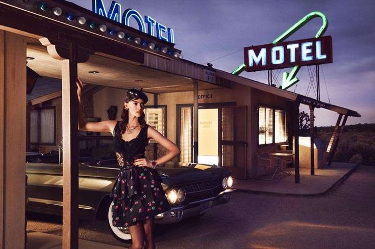 Retro Roadside Motel Editorials: The Rachel Alexander Grazia Germany Shoot is '60s-Inspired