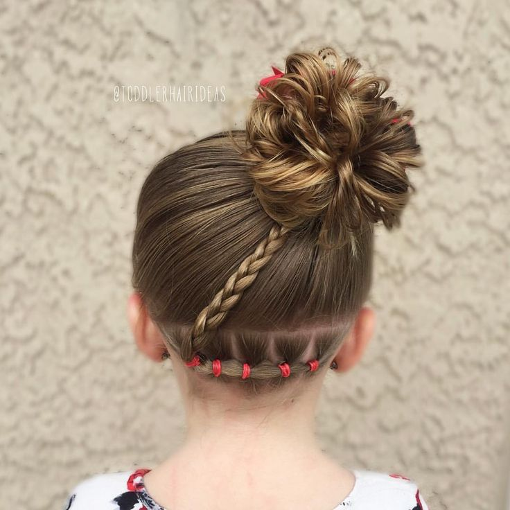 "Toddler Hair Ideas (@toddlerhairideas) on Instagram: ""Today I did some connected ponies in the back, a braid, and a high side messy bun!"""
