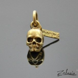 Pendant Skull Bronze by Zahario on Etsy