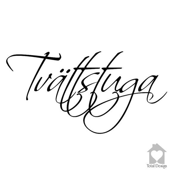 Tvättstuga - Vinyl Wall Decal, Vinyl Wall Decor, Vinyl Decal, wall Decal, wall stickers, väggord, väggtext, väggdekor, Sisustustarra, 1173_