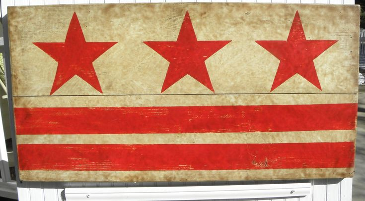 OK DC, We have you covered. Check out my #etsy shop: DC Flag Sign Original Hand Painted stars and stripes for the District of Columbia flag. Cool focal point art over a fireplace or dining room http://etsy.me/2E52R4k #WashingtonDC #DCFlag #vintageart #sign #handpainted