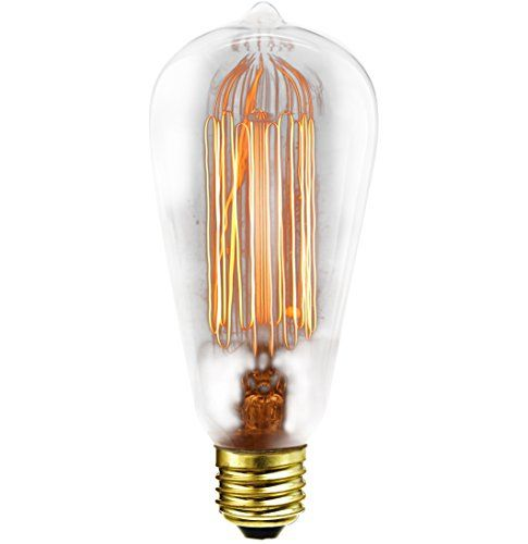 From 3.99 Carbon Filament Antique Gold Effect  Dimmable  Light Bulb  Es E27 Screw Cap Fitting  40w  160 Lumen  Excellent For Outdoor Lighting (40w Es Globe)