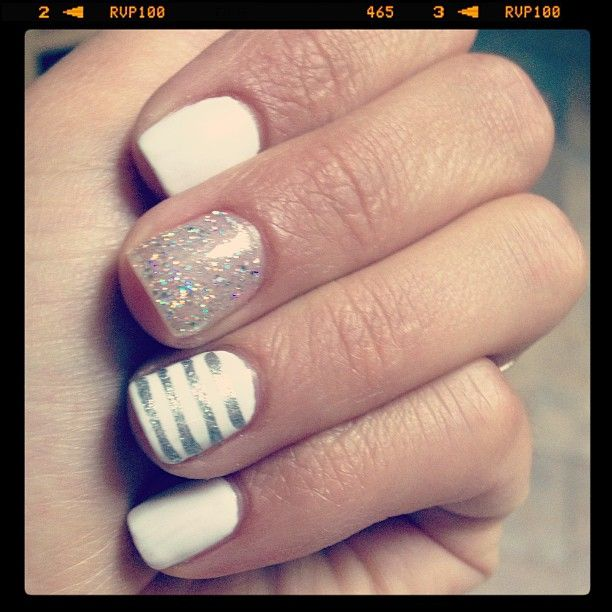 silver amp white nails the perfect manicure pinterest