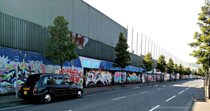 A Black Cab Tour of Belfast is an eye-opening experience. Belfast peace walls and murals; Black Cab Tour. Photo. Ireland Family Vacations