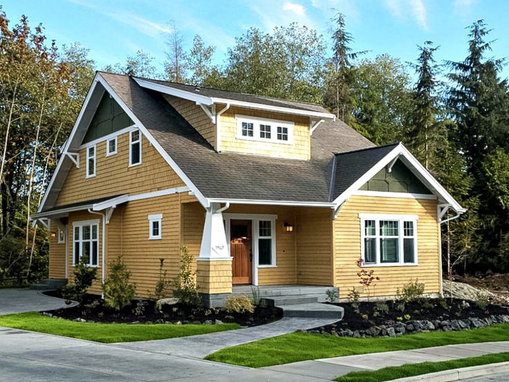 Best Craftsman Bungalow House Plans Images On Pinterest - Craftsman bungalow house plans