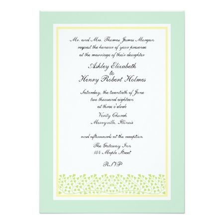 Formal Heart Shaped Leaves Wedding Invitation - tap to personalize and get yours