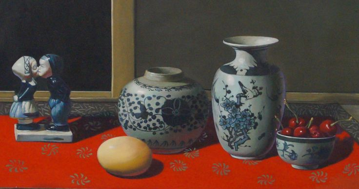 Zhang Wei Guang  Natura morta con miniatura olandese, uova e vasi 2007