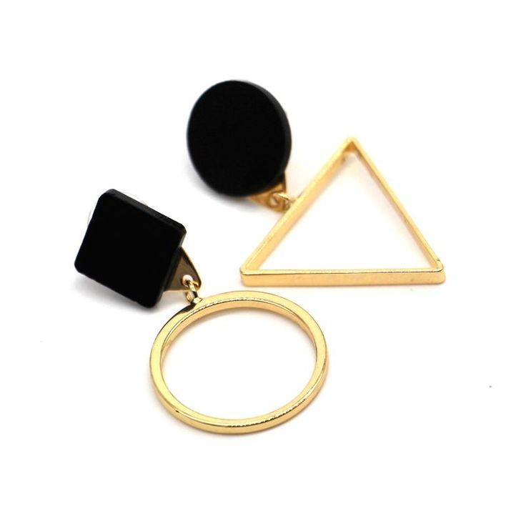 statement round triangle geometric earrings for women 2017 new vintage simple gold plated jewelry bijoux cute