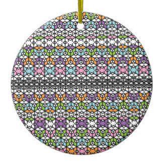 Paradigm Snowflakes Round Ceramic Decoration