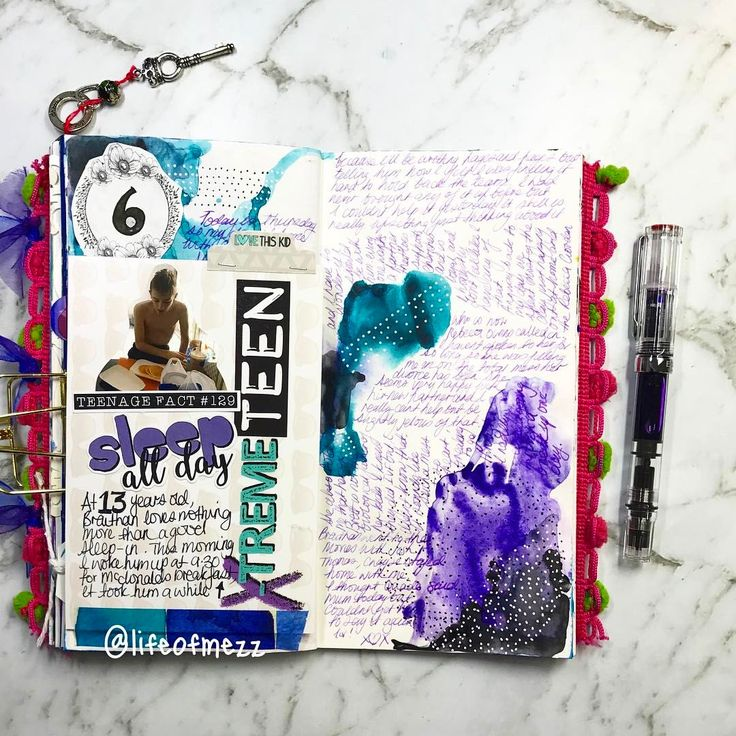 0 Likes, 1 Comments - Mez (@lifeofmezz) on Instagram: the journal page was created in my travelers notebook using some abstract watercolour designs and the extreme teen range by flutterby designs. for a full list and links to supplies used check out my lifeofmezz youtube channel or blog, links in profile