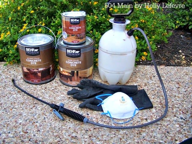 How to Dye or Stain Concrete Floors by 504 Main