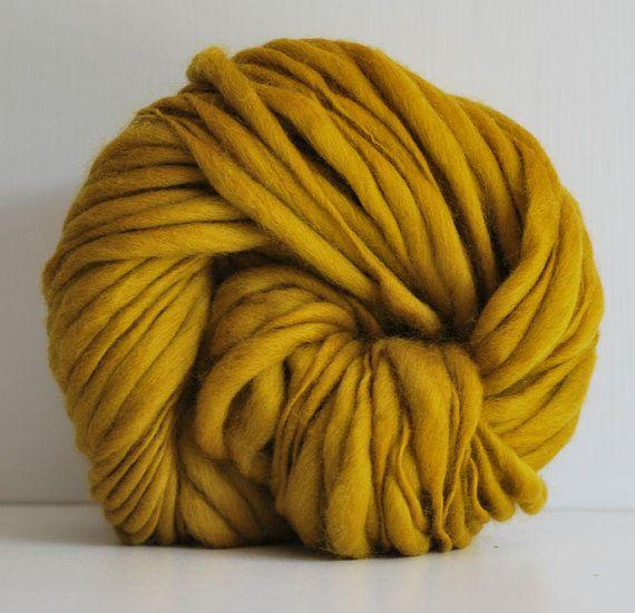 Merino Yarn : Merino Wool Yarn Handspun thick and thin merino wool yarn - 50 yards ...
