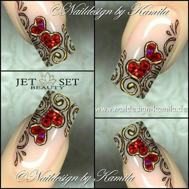 Mejores 96 imágenes de nail art en Pinterest   Uñas bonitas, Diseños ...