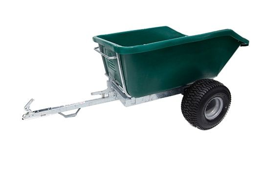 ATV trailer with a 500 litres capacity. Suitable for ATV quad bikes, compact tractors, ride-on lawn mowers and UTVs. For more info contact us at http://www.fresh-group.com/trailers-trolleys-and-carts.html