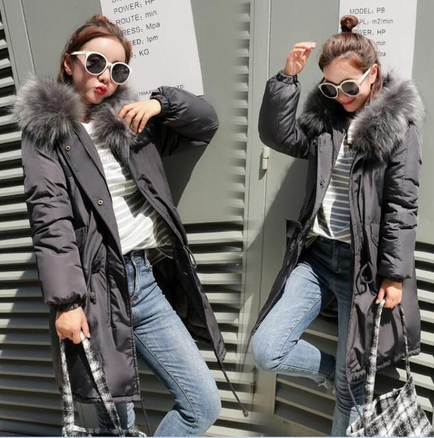 Faux Fur Parkas Women Down Jacket New 2018 Winter Jacket Women Thick Snow Wear Winter Coat Female Jackets Parkas plus size 2 Gra 2