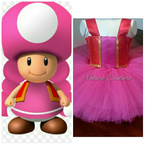 Check out this item in my Etsy shop https://www.etsy.com/listing/266710018/toadette-super-mario-bros-inspired-tutu