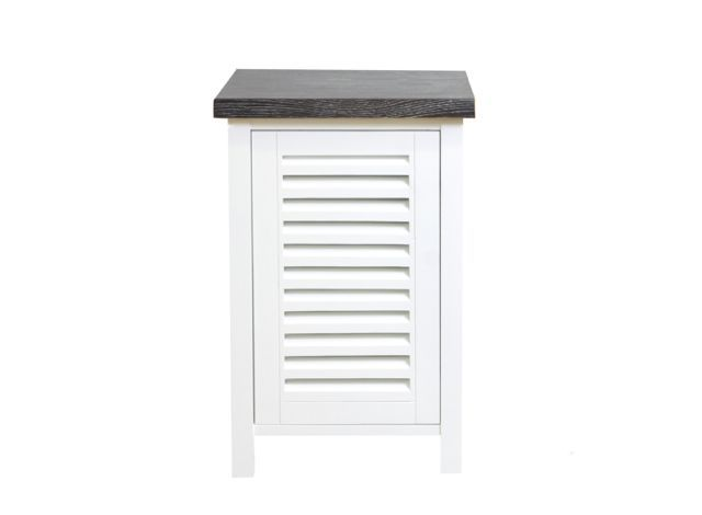 Beachwood Furniture - Louvred door oak bedside table