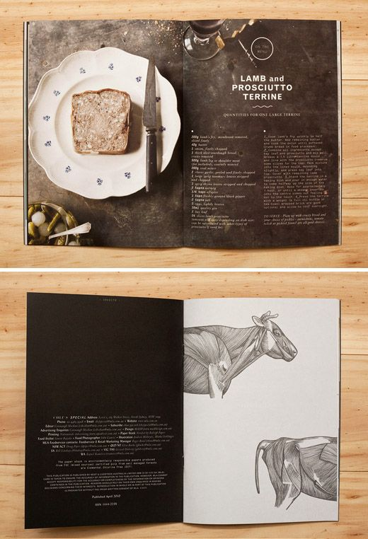 "'""Chef's Special' – a seasonal print publication from Meat and Livestock Australia, designed by SA-based design studio Mash."""