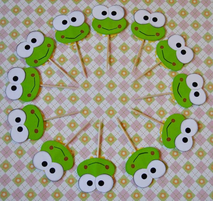 Hello Kitty Keroppi Cupcake Toppers set of 12 Take 10% off TODAY. $5.99, via Etsy.