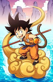 Image result for goku and nimbus, dragonball