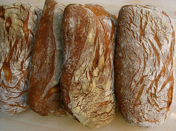 Overnight Ciabatta Loaves looks beautiful, but a bit more complicated.  must use scale.