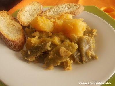 Caceroladas: Judías verdes rehogadas con patatas