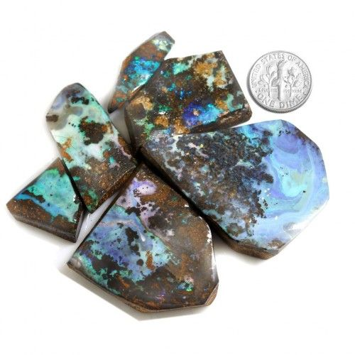 rough opal as rubs consisting of 6 pieces that can be bought individually