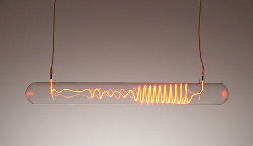 2006 / borosilicate glass, neon gas, electrodes, silicon flex & transformer / by Rolf Sachs