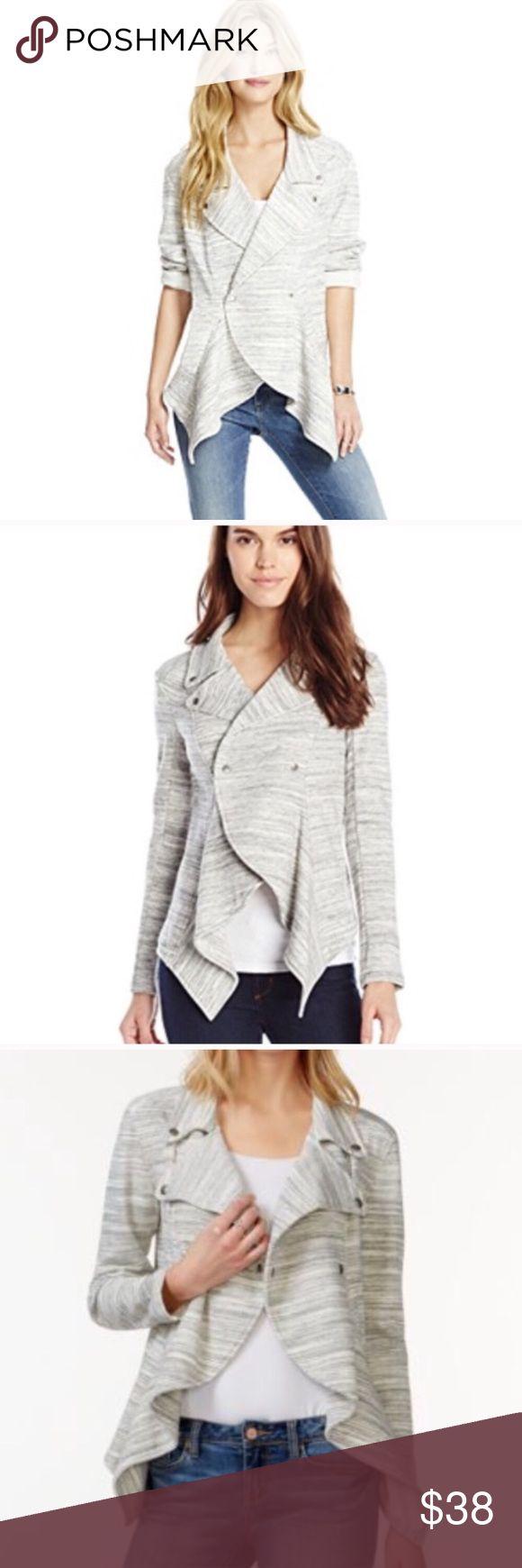 ✨NWT✨Jessica Simpson Marlow jacket Heather grey & white Jessica Simpson Marlow moto jacket. Comfy & chic. Button closure. Cotton/poly/viscose. Brand New Jessica Simpson Jackets & Coats
