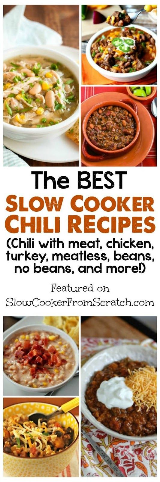242 best recipe round ups slow cooker recipes images on pinterest the best slow cooker chili recipes forumfinder Image collections