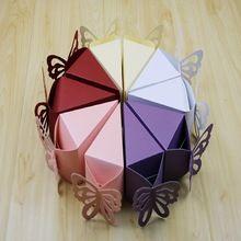 2016 10 шт. Треугольник бабочка бумаги конфеты коробка подарка для свадьбы день рождения чаепитие фавор(China (Mainland))