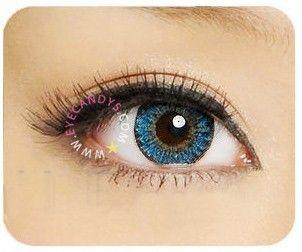 GEO Berry Holic Blue - EyeCandys Circle lenses, colored circle lens, big eye circle contact lens, colored contacts, color contact lens