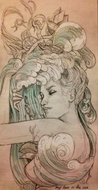 """Chiara Bautista """"...ela mora no mar, ela brinca na areia, no balanço das ondas, a paz ela semeia..."""" Ogunté, Odoyá, minha mãe!"""