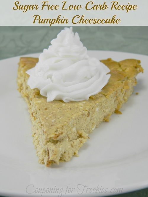 Sugar FREE Low Carb Recipe For Pumpkin Cheesecake  - http://couponingforfreebies.com/sugar-free-low-carb-recipe-for-pumpkin-cheesecake/