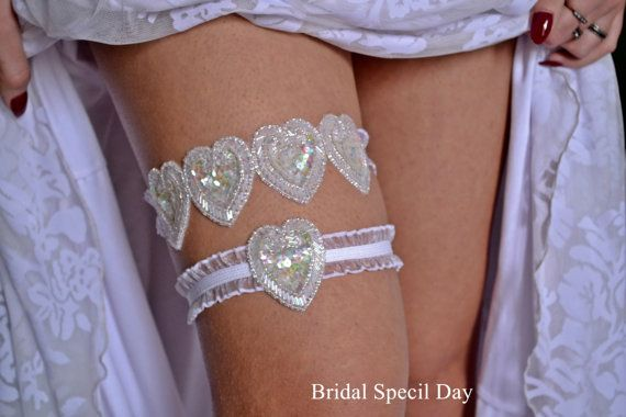 White And  Ivory Wedding Garter / Bridal by BridalSpecialDay, €26.00