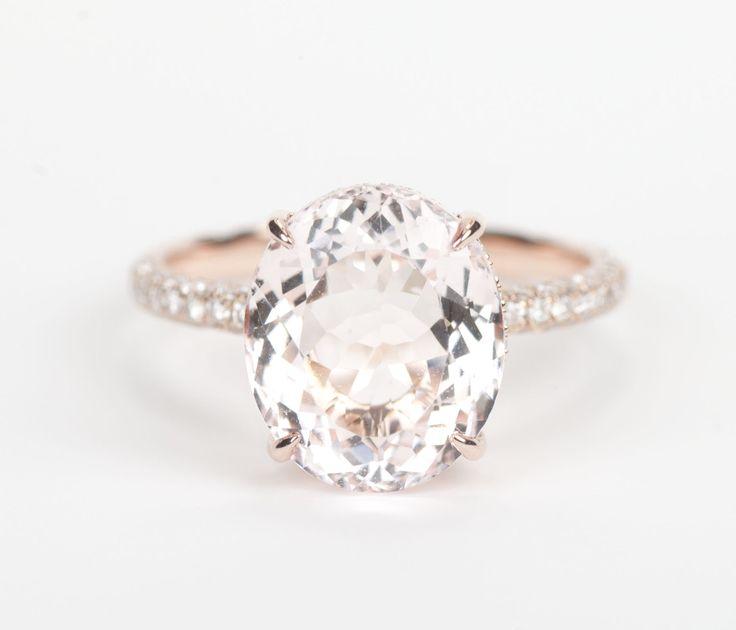 Pink Morganite & Diamond Engagement Ring