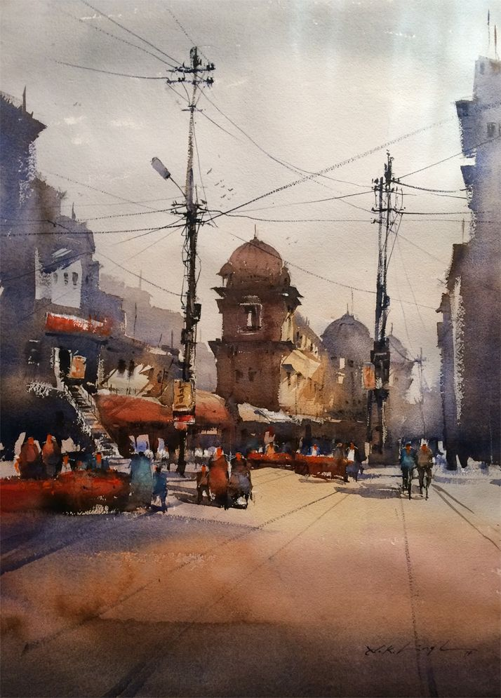 #water #paint #art from indian #watercolour artist Nitin Singh, visit his online art #gallery to buy paintings online.