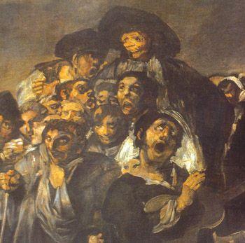 "Francisco de Goya  Pilgrimage to San Isidro  ""La romeria de San Isidro"" Painted 1820 - 1823"