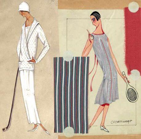 jeanne lanvin croquis tenue de golf et robe de tennis 1923 jeanne lanvin couture. Black Bedroom Furniture Sets. Home Design Ideas