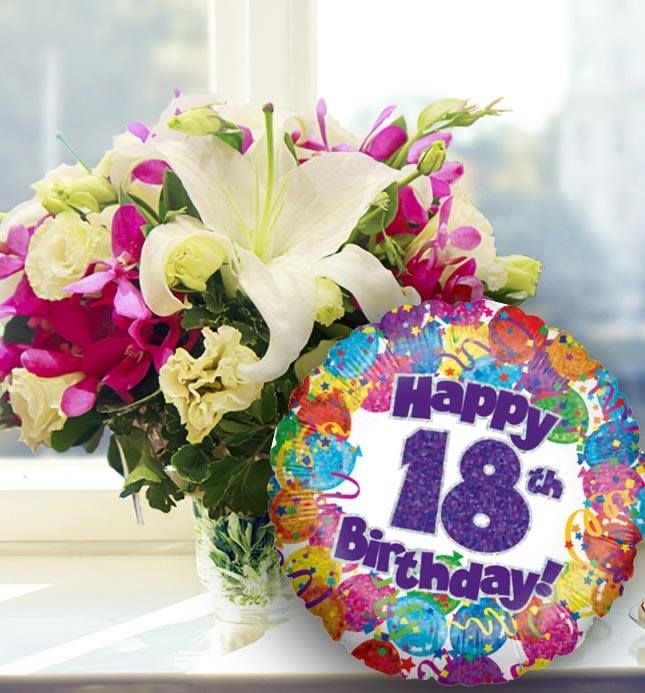 18th Birthday Flowers And Balloon Available For Uk Wide Delivery From Www Order