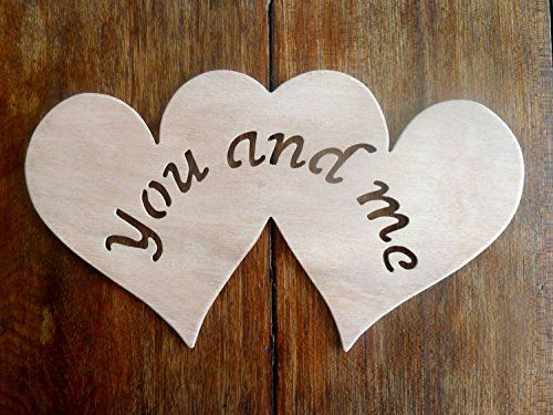 "Beautiful Large Sized Hand Crafted MDF 'Two Love Hearts - You And Me' Drawing Template / Stencil - 10.5"" X 6"" by Greg Ledder http://www.amazon.co.uk/dp/B00TDC947Q/ref=cm_sw_r_pi_dp_Ld.Hvb0TCK27Q"