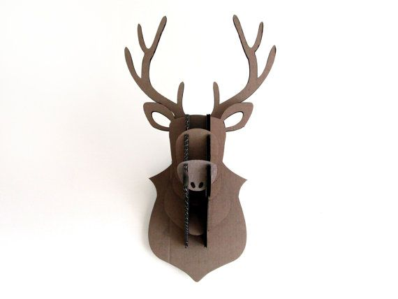 Hey, I found this really awesome Etsy listing at https://www.etsy.com/listing/130599550/cardboard-flat-pack-stags-head-wall