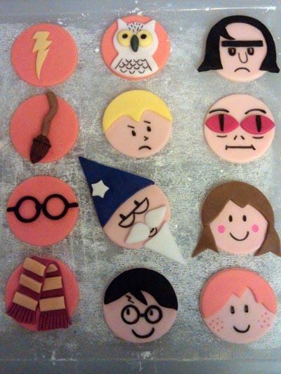 Harry Potter fondant characters.