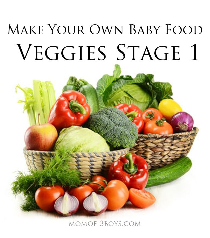 Make you own baby food Veggies Stage 1