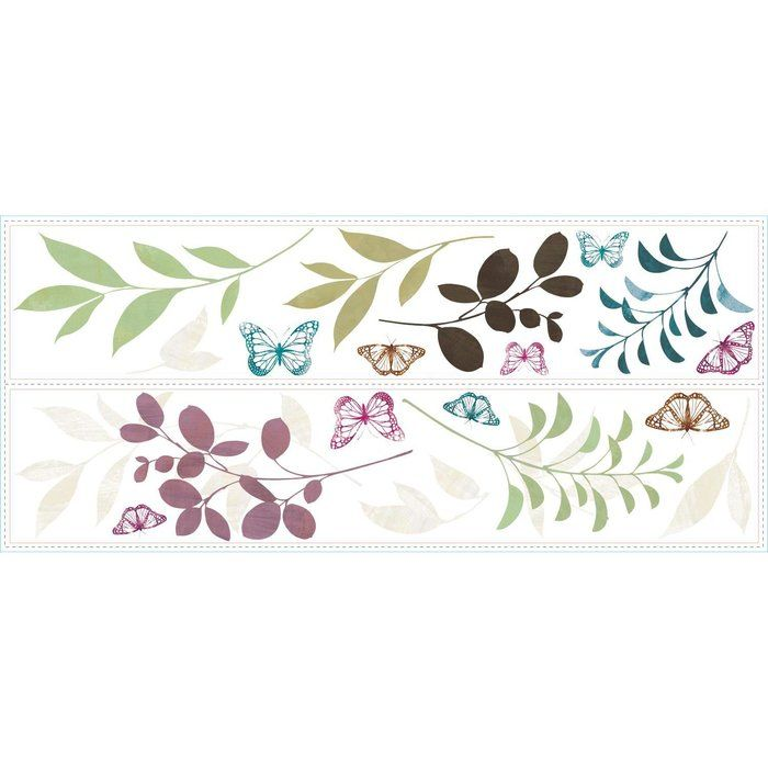 Create a world of beauty in minutes with these Botanical Butterfly wall decals! Perfect with neutral wall colors, these butterfly wall stickers can easily be moved and repositioned from wall to wall without damaging the wall decal.