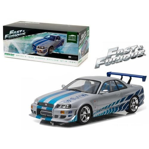 "1999 Nissan Skyline GT-R (R34) ""Fast & Furious/ 2 Fast 2 Furious"" Movie (2003) 1/18 Diecast Model Car by Greenlight"