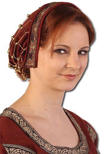 Haube mit Haarnetz, bordeaux von Leonardo Carbone