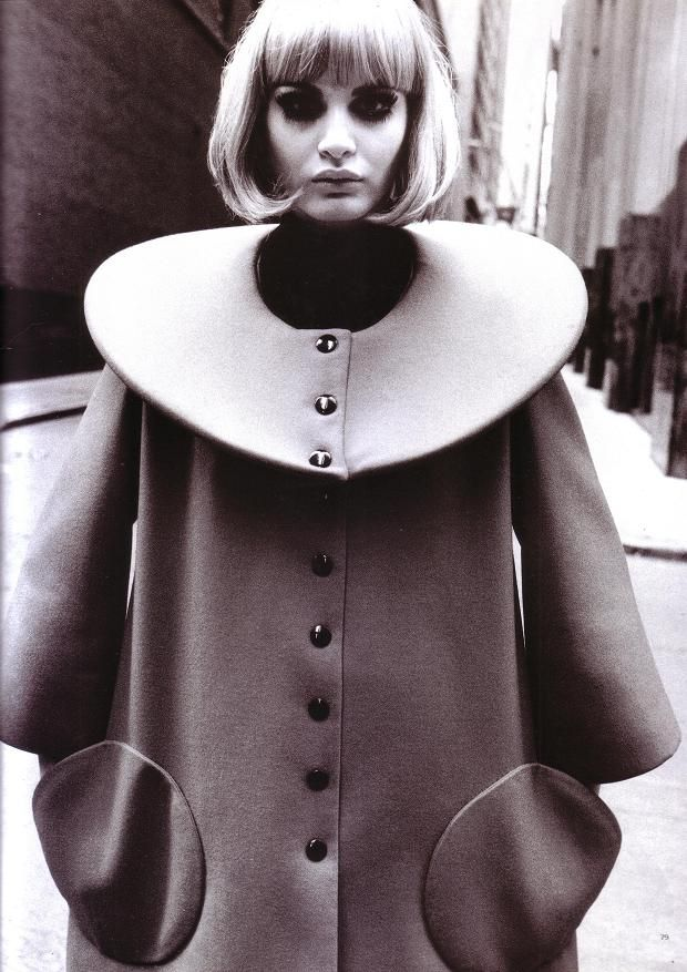 Thierry Le Goues | FRENCH Revues de Mode | Pierre Cardin | classic | glamour | coat | bob