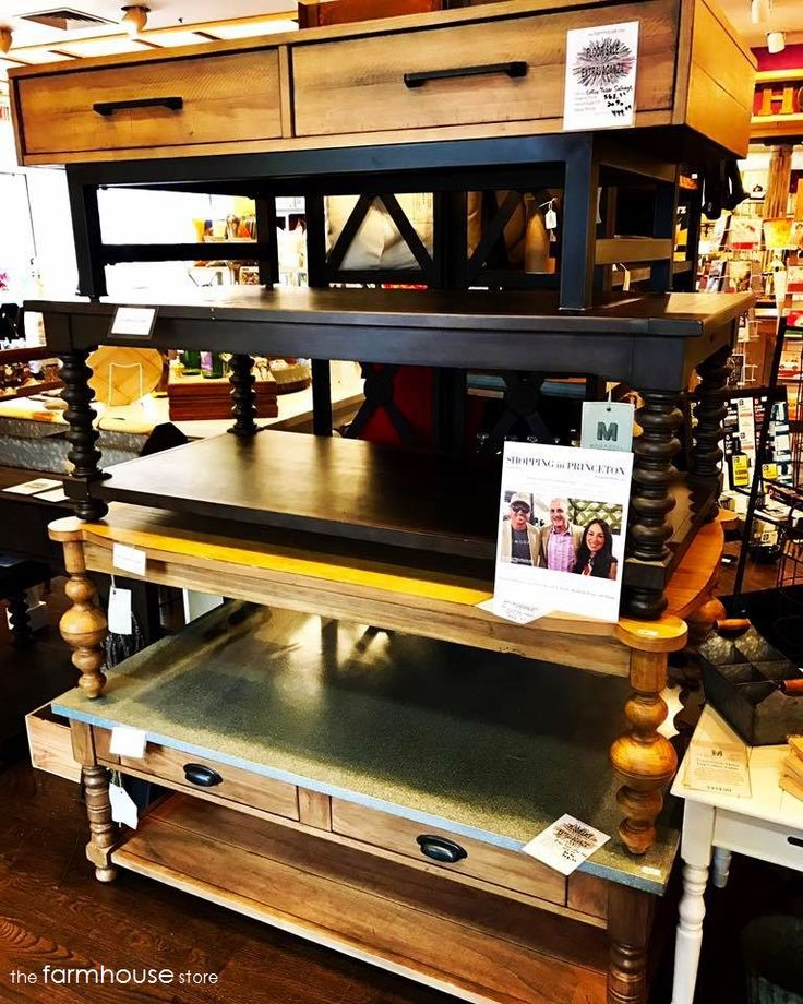 The Farmhouse Store Princeton's floor model extravaganza starts today! Check out these Magnolia Home by HGTV star Joanna Gaines coffee tables...all deeply discounted!