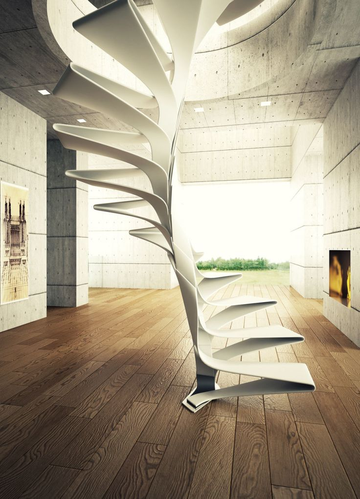 16 best staircase design images on pinterest stair for Architecture spiral staircase